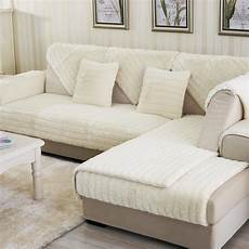 Sleeper Sofa Slipcover 3d Image by 40plush L Shaped Sofa Cover Seat Towel Corner Sectional