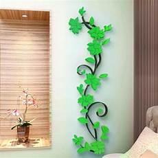 3d diy removable vinyl wall sticker vase flower tree