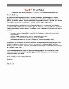 Relationship Manager Cover Letter Free Customer Experience Manager Cover Letter Examples