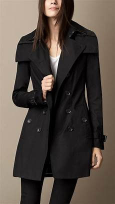 hooded trench coats for burberry midlength hooded trench coat with warmer in black