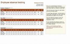 Employee Absence Template Employee Absence Tracking Excel Templates