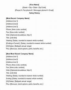Example Of Salary 9 Sample Salary History Templates Free Word Pdf
