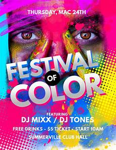 Flyer Color Copy Of Festival Of Color Flyer Postermywall
