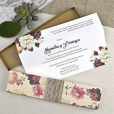 invitaciones de boda invitacion boda floral