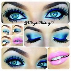 12 chic blue eye makeup looks and tutorials pink