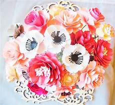 paper flower template paper flower diy wedding bouquet