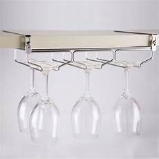 wine glass hanger rack holder shelf cabinet stemware