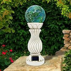 Solar Powered Mosaic Lights Outdoor Garden Solar Power Mosaic Ball On Column Light