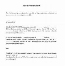 Joint Venture Contract Joint Venture Agreement Template 13 Free Word Pdf