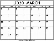 March 2020 Printable Calendar With Holidays March 2020 Calendar Free Printable Calendar Com