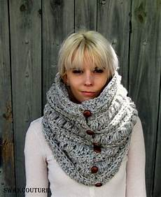 chunky cowl thick scarf knit cowl gifts for snood handmade