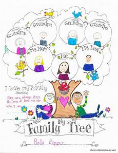 Printable Family Tree For Kids Free Printable Family Tree Chart Coloring Sheet A Fun