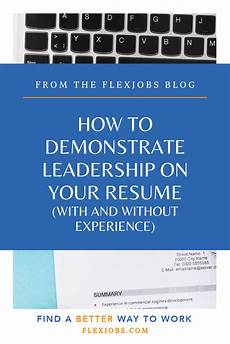 Describe A Leadership Experience Leadership Experience Is Most Readily Evident From