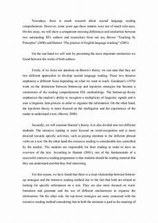 Essay About Reading Comparative Essay On Reading