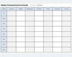 Calender Form Weekly Calendar Template Plan Daily Or Weekly Tasks