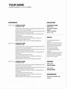 Word Templates Resumes 5 Best Free Resume Templates Of 2019 Stand Out Shop