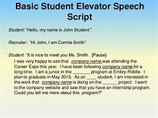Elevator Speech Examples For Students Perfect Your Pitch Using An Elevator Speech To Impress