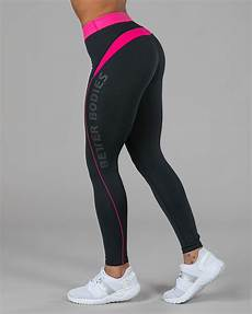 Better Bodies By Design Better Bodies Fitness Curve Tights Black Pink Tights No