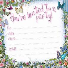 Free Online Party Invitations Templates Free Printable Butterfly Party Invitation Template