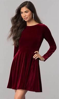 sleeve homecoming dresses velvet sleeve homecoming dress promgirl
