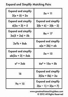 Brackets In Math Expand And Simplify Single Brackets Matching Pairs With