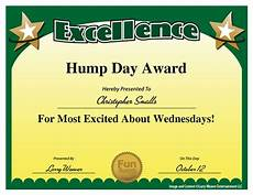 Fun Certificates For Employees Hump Day Award Seriously Yes From Quot 101 Funny Employee