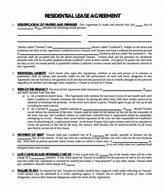 Residential Lease Agreement Format Free 11 Residential Lease Agreement Templates In Pdf Ms
