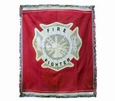 firefighter maltese cross tapestry throw firefighter