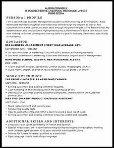 Curriculum Vitae Examples For Students Example Of Curriculum Vitae For Undergraduate Student