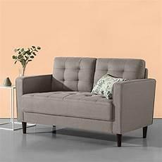 zinus mid century upholstered 52 8in sofa loveseat