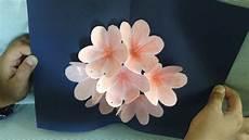 pop up card template flowers pop up flower card tutorial handmade