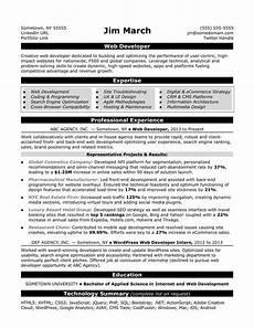 Creative Programmer Resume Web Developer Resume Sample Monster Com
