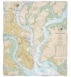 Charleston Sc Nautical Charts Sc Charleston Sc Nautical Chart Throw Blanket Nautical