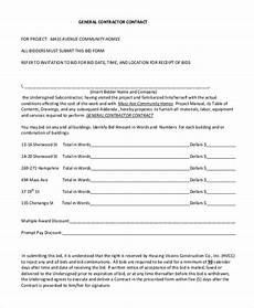 Contractor Contract Sample Free 8 Sample Contractor Contract Forms In Pdf Ms Word