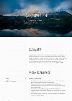 Free Chef Cv Template Chef Resume Samples And Templates Visualcv
