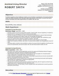 Assisted Living Director Cover Letter Assisted Living Director Resume Samples Qwikresume