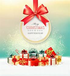 weihnachtsgeschenke mit einem gutschein und einem band