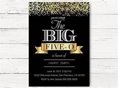 50th Birthday Invites Templates 50th Birthday Invitations Swanky Party Box