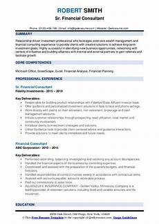 Immigration Consultant Resume Financial Consultant Resume Samples Qwikresume