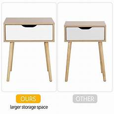 yaheetech mid century bedside table nightstand for bedroom