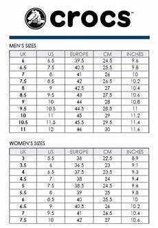 Crocs Size Chart J2 Bostro Pro Clog 15010 Brock S