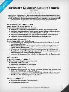 Objective In Resume For Software Engineer Experienced Software Engineer Resume Sample Amp Writing Tips Resume