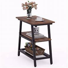 tribesigns 3 tier vintage bed side table industrial end