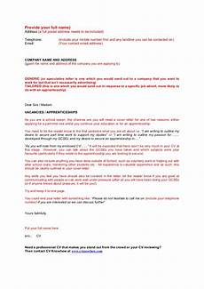 School Application Cover Letter School Leaver Cover Letter Template