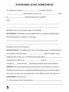 Free Downloadable Lease Agreement Printable Basic Lease Agreement Template Business Psd