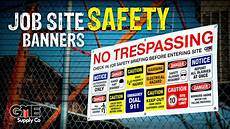 Job Site Job Site Safety Banners Gme Supply Youtube
