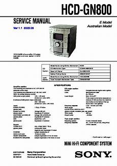 Sony Hcd Gn800 Mhc Gn800 Service Manual View Online Or