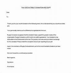 Donation Letter Receipt Donation Receipt Templates 17 Free Printable Excel