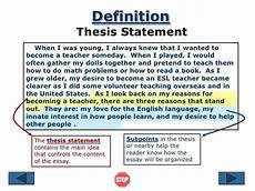 Purpose Of Thesis Statement In An Essay How To Write An A Thesis Statement Thesis Info