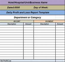 Profit And Loss Report Template Free Report Templates Collection Of Free Report Formats